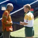 Morgan Freeman In South Africa For 'Invictus' Premiere (Video)