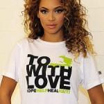 Beyonce Promotes Charitable Haiti Tee