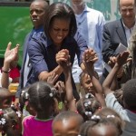 Video/Photos: Michelle Obama's Trip to Haiti