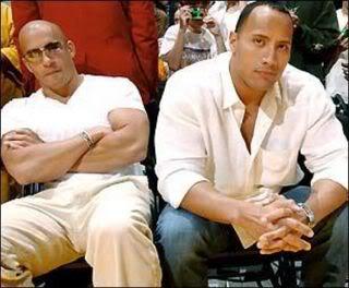 "Vin Diesel (left) and Dwayne ""The Rock"" Johnson"
