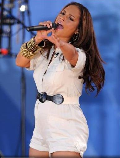 alicia keys baby. singer Alicia Keys was on