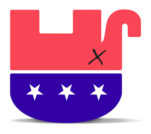 gop elephant (upside down)