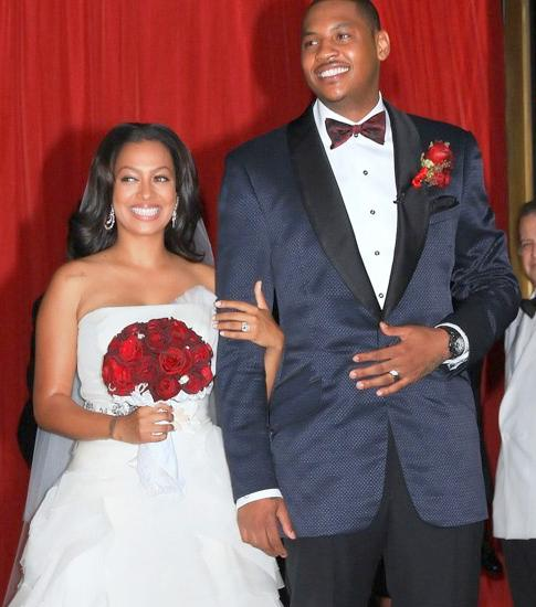 Mr. and Mrs. Carmelo Anthony