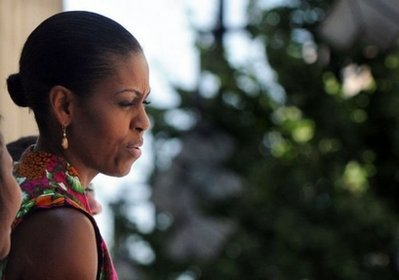 Michelle Obama, seen here at a cathedral in Granada, the former seat