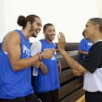 Obama Hoops with LeBron, D-Wade, Magic, then Barbecues