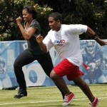 Photos: FLOTUS Playing Flag Football for 'Let's Move!'
