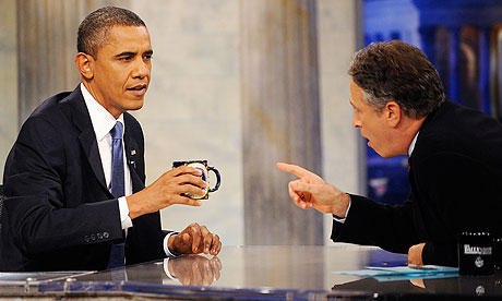 Barack Obama on the Daily 006 Obama Is A Hit On The Daily Show