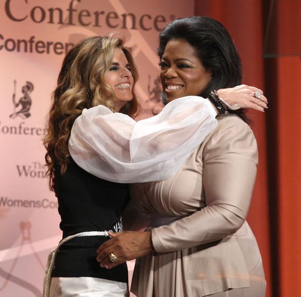 Oprah Winfrey with Maria Shriver