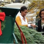 Video/Photos: Obama Ladies Welcome Tree While President Nurses Lip