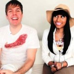 Perez Hilton and Nicki Minaj Chop it Up