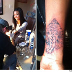Photo:  Brandy's New Tattoo Raising Eyebrows