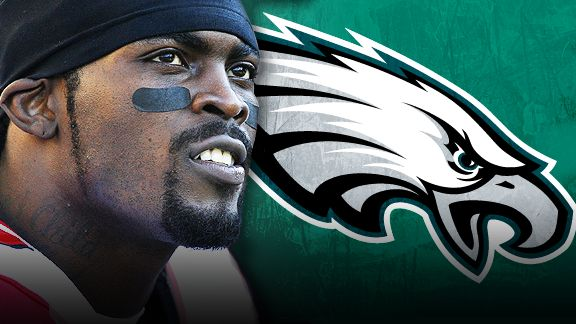 michael vick & eagles logo