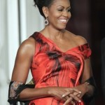 Video/Photos: Michelle Obama in Red at WH State Dinner