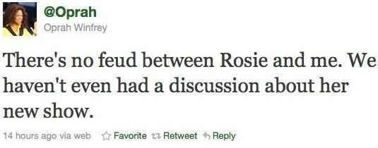 oprah rosie tweet2011 med wide Oprah And Rosie ODonnell..Beef???