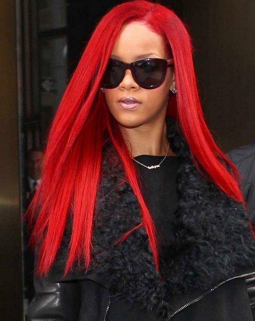 Rihanna Hair Red Long. rihanna-long-red-hair | EURweb