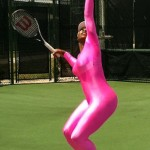 TwitPic: Serena Williams Back on Tennis Court — in Hot Pink