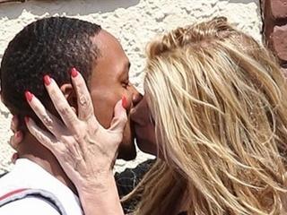 Lesbians kissing mature Old