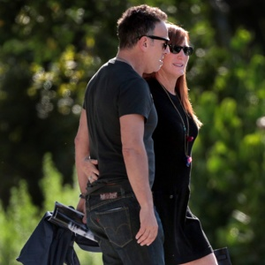 Bruce springsteen and his wife patti scialfa leave the royal poinciana
