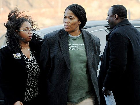 Malikah Shabazz is extradited from North Carolina and brought in to    Malikah Shabazz