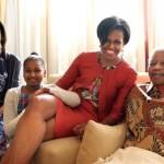 Photos/Video: Michelle Obama, Family Meet Nelson Mandela