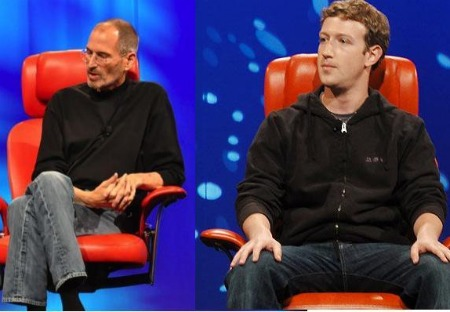 steve jobs and mark zuckerberg