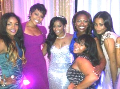 Toya Surrounded By Friends On Her Wedding Day