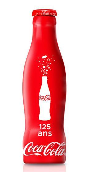 coca cola 125th anniversary aluminum bottle