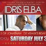 Idris Elba at Jonathan De Veaux's Savoy Entertainment Center in SoCal this Sat.