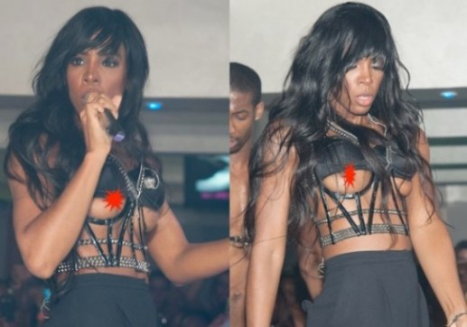 Kelly Rowlands Nips Slips