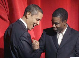 Photo of Chris Rock & his friend politician  Barack Obama - Longtime