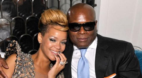 "Rihanna and ""The X Factor"" judge L.A. Reid"