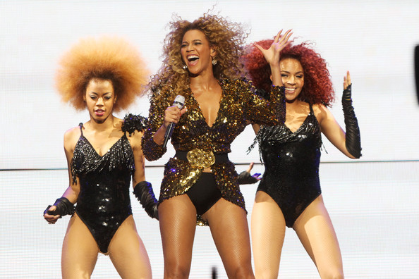 Beyonce Knowles performs at the Glastonbury Festival at Worthy Farm, Pilton on June 26, 2011 in Glastonbury, England.