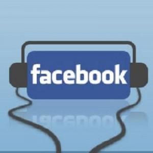 facebook logo (with-earphones)
