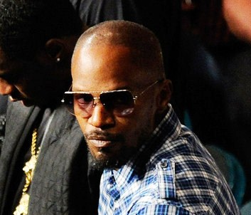 Jamie Foxx attends the fight between Floyd Mayweather Jr. and Victor Ortiz for the WBC welterweight title at the MGM Grand Garden Arena on Sept. 17, 2011 in Las Vegas