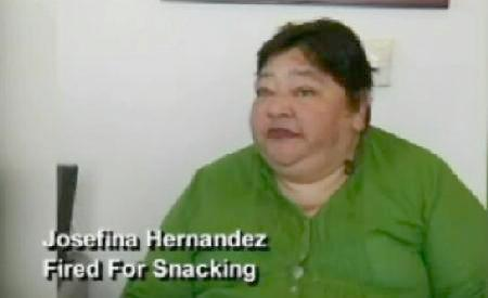 Josefina Hernandez, allegedly fired for eating chips on her job at Walgreens.