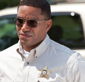 "Laz Alonso in a scene from ""Straw Dogs,"" opening nationwide Sept. 16"