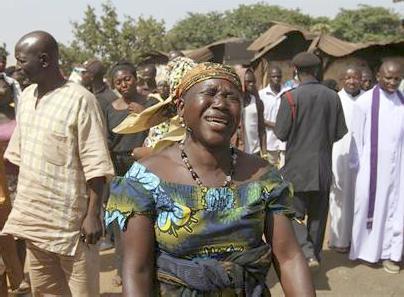 nigerian mourners
