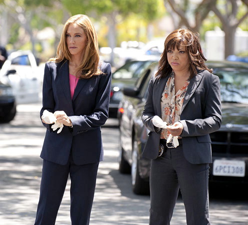 "The Protector - Season 1 - ""Affairs"" - Ally Walker and Tisha Campbell-Martin"