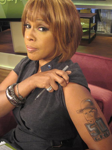 look gayle king shocks the world with new tattoo of 50