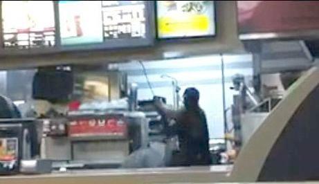 mcdonalds worker beats girls