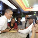Photos/Video: President Obama Makes Pit Stop at Roscoe's Chicken 'n Waffles