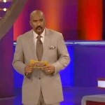 Funny: Steve Harvey Fears for his Family Feud Job After Question on 'Swallowing' (Video)