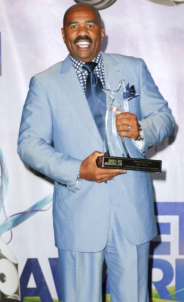 Steve holding award