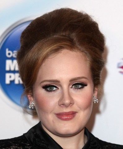 Adele attends the Barclaycard Mercury Prize at Grosvenor House, on September 6, 2011 in London, England