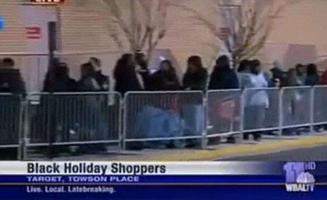 black friday shoppers - baltimore