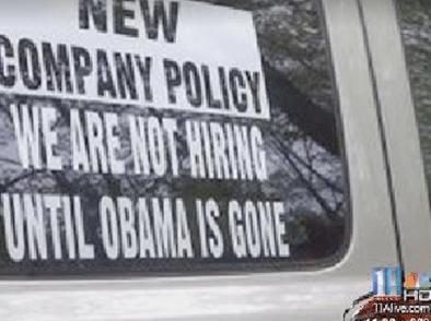 not hiring until obama is gone sign