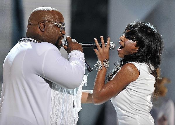 cee lo & melanie fiona1 2011 soul train awards