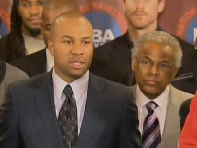 NBA players union president Derek Fisher & NBPA executive director Billy Hunter
