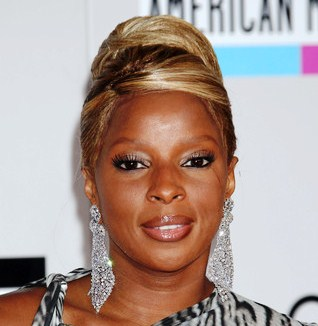 mary j blige closeup