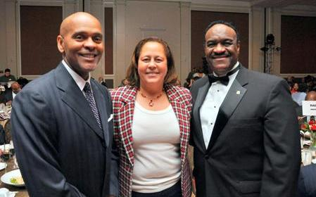 (Left to Right) Roland Parrish, Chair & CEO of the National Black McDonald's Operators Association (NBMOA), U.S. Congresswoman Laura Richardson, McDonald's Owner/Operator Leroy G. Walker, Jr. of Jackson, MS.